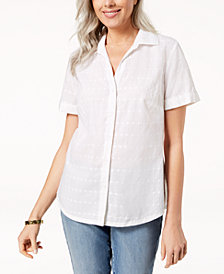 Karen Scott Cotton Shirt, Created for Macy's