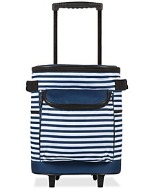 Oniva® by Navy & White Striped Portable Cooler on Wheels