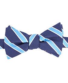 Tommy Hilfiger Men's Bedford Stripe To-Tie Silk Bow Tie