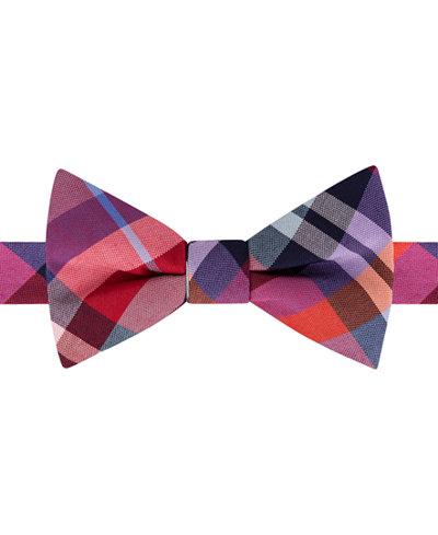 Tommy Hilfiger Men's Multi-Plaid Pre-Tied Bow Tie