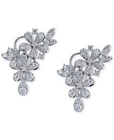 Diamond Cluster Flower Drop Earrings (1 7/8 ct. t.w.) in 14k White Gold