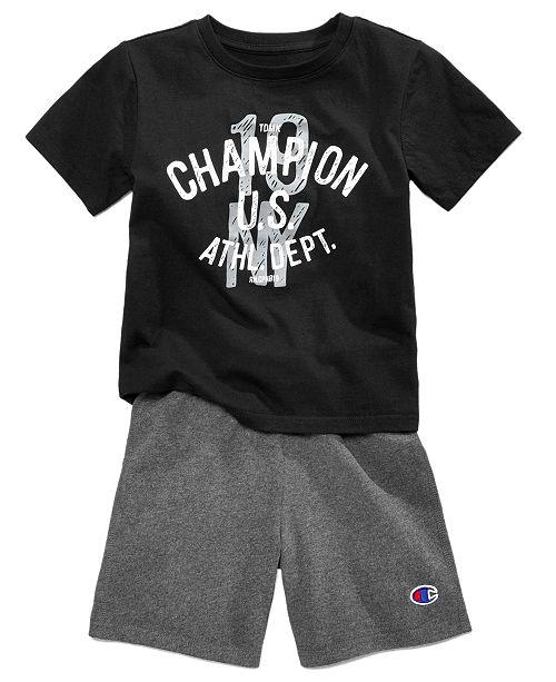 Champion 2 Pc Cotton T Shirt Shorts Set Toddler Boys Reviews