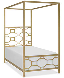 Rachael Ray Chelsea Kids Metal Canopy Twin Bed