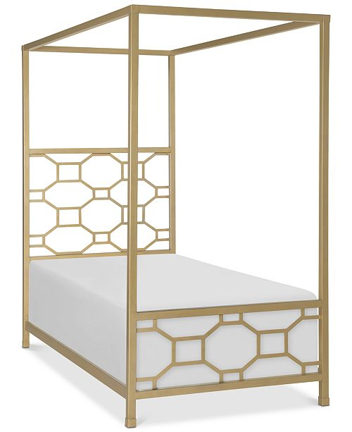Furniture Rachael Ray Chelsea Kids Metal Canopy Twin Bed - Furniture ...