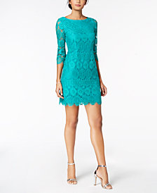 Jessica Howard Petite 3/4-Sleeve Lace Sheath Dress