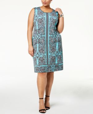 Jm Collection Plus Size Embellished Sheath Dress, Created for Macy's 5888255