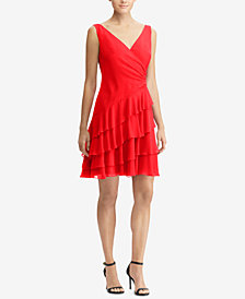 Lauren Ralph Lauren Tiered Ruffled Georgette Dress