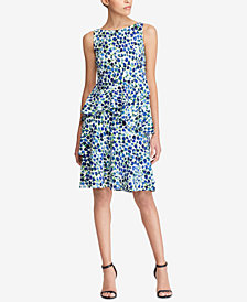 Lauren Ralph Lauren Petite Ruffled Crepe Dress
