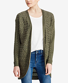 Lauren Ralph Lauren Cable-Knit Open-Front Cardigan