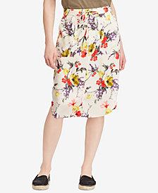 Lauren Ralph Lauren Floral-Print Twill Skirt