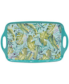 Certified International Tropicana Melamine Rectangular Tray with Handles