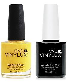 Creative Nail Design Vinylux Bicycle Yellow Nail Polish & Top Coat (Two Items), 0.5-oz., from PUREBEAUTY Salon & Spa