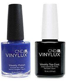 Creative Nail Design Vinylux Blue Eyeshadow Nail Polish & Top Coat (Two Items), 0.5-oz., from PUREBEAUTY Salon & Spa