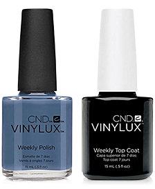 Creative Nail Design Vinylux Denim Patch Nail Polish & Top Coat (Two Items), 0.5-oz., from PUREBEAUTY Salon & Spa