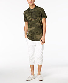 American Rag Men's Camouflage Hooded Fishtail T-Shirt & Cropped Joggers, Created for Macy's