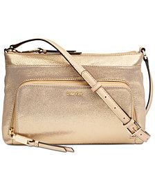 Calvin Klein Lily Leather Medium Crossbody
