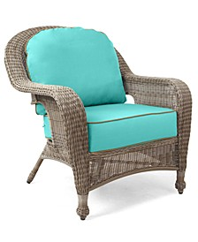 Sandy Cove Wicker Outdoor Club Chair: Custom Sunbrella®, Created for Macy's