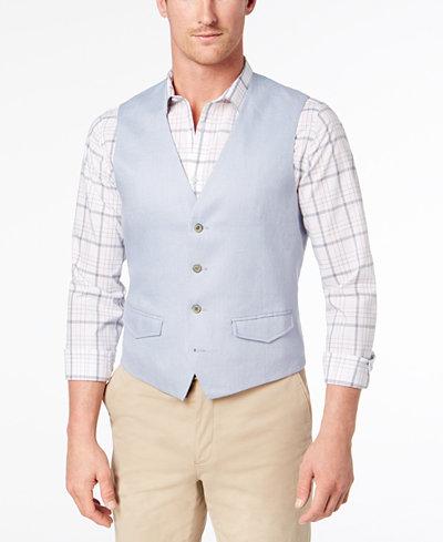 Tasso Elba Men's Linen Vest, Created for Macy's