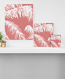 Deny Designs The Old Art Studio Pink Palm Art Canvas Collection
