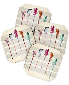 Deny Designs Iveta Abolina Feathered Arrows Coaster Set