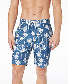 Trunks Surf & Swim Co. Men's Swami Coconut Tree Palm-Print E-Board 8.5'' Swim Trunks