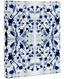 "Deny Designs Jacqueline Maldonado Cosmic Connections Blue Art Canvas 24 x 30"""