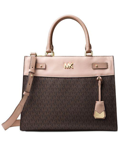 43d6dcf4accba6 Michael Kors Signature Reagan Large Satchel & Reviews - Handbags ...