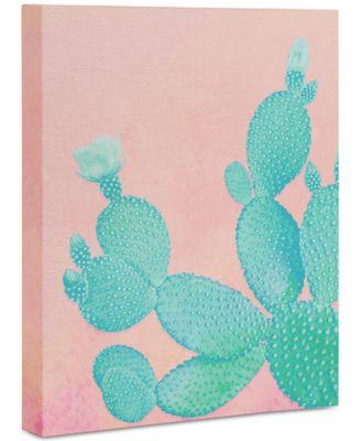 "Kangarui Pastel Cactus Art Canvas 8x10"""