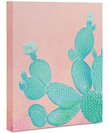 "Deny Designs Kangarui Pastel Cactus Art Canvas 24 x 30"""