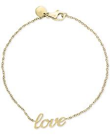 "EFFY® Kidz® Children's ""Love"" Bracelet in 14k Gold"