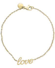 "EFFY Kidz® Children's ""Love"" Bracelet in 14k Gold"