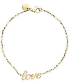 "EFFY Kidz® Children's ""Love"" Bracelet in 14k Gold"