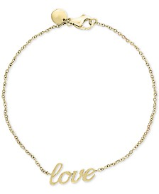 "EFFY® Kidz® Children's ""Love"" Bracelet in 14k Gold"