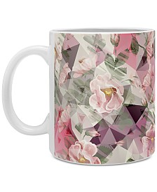 Deny Designs Marta Barragan Camarasa Geometric Shapes and Flowers Coffee Mug