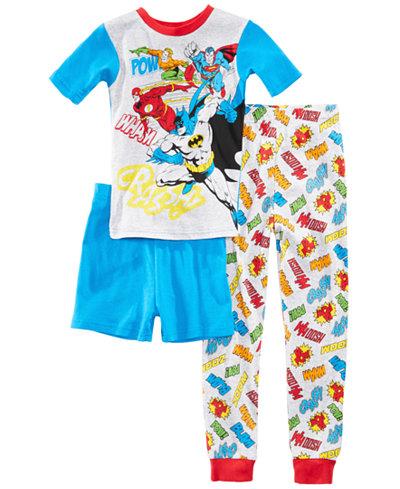DC Comics 3-Pc. Justice League Cotton Pajama Set, Little Boys & Big Boys