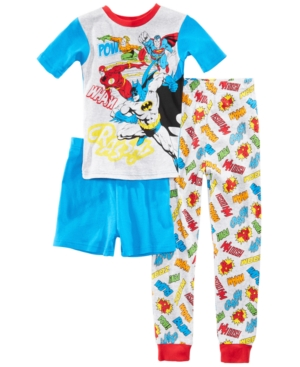 Dc Comics 3Pc Justice League Cotton Pajama Set Little Boys  Big Boys
