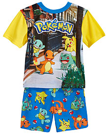 Pokémon 2-Pc. Pikachu & Friends Pajama Set, Little Boys & Big Boys