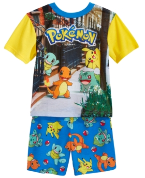Pokemon 2Pc Pikachu  Friends Pajama Set Little Boys  Big Boys