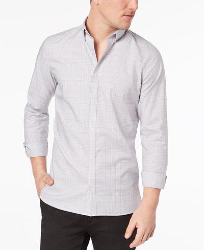 Calvin Klein Men's Grid-Print Infinite Cool Shirt