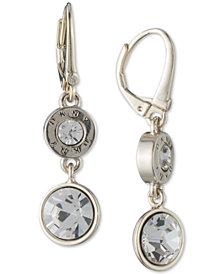 DKNY Crystal & Logo Double Drop Earrings, Created for Macy's