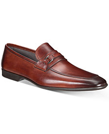 Massimo Emporio Men's Strap Leather Bit Moc-Toe Loafers, Created for Macy's