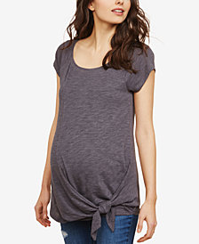 Motherhood Maternity Tie-Front T-Shirt