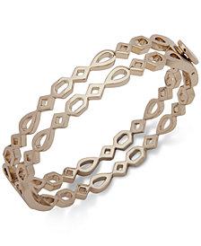Ivanka Trump Gold-Tone Openwork Double Bangle Bracelet