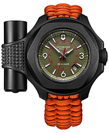 Victorinox Swiss Army Men's Swiss I.N.O.X. Carbon Orange Paracord Strap Watch 43mm - Limited Edition