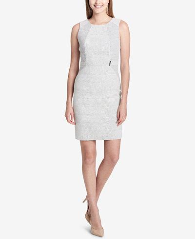 Calvin Klein Printed Hardware-Detail Sheath Dress