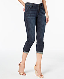 Kut from the Kloth Petite Bardot Cropped Skinny Boyfriend Jeans
