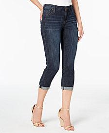 Kut from the Kloth Petite Bardot Cropped Skinny Boyfriend Jeans