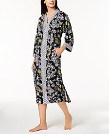Charter Club Woven Printed Caftan, Created for Macy's