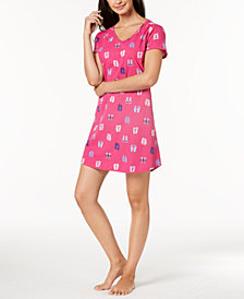 Charter Club Printed Cotton Sleepshirt, Created for Macy's
