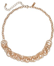 INC Rose Gold-Tone Multi-Ring Statement Necklace, Created for Macy's